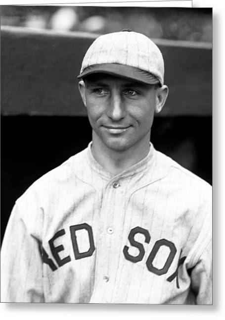 Boston Red Sox Greeting Cards - Albert J. Al Stokes Greeting Card by Retro Images Archive