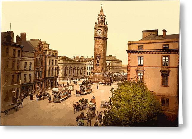 19th Century America Digital Art Greeting Cards - Albert Memorial. Belfast County Antrim - Ireland Greeting Card by Don Kuing