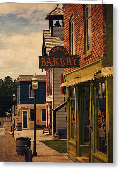 Store Fronts Digital Greeting Cards - Alberta Bakery I Greeting Card by Maria Angelica Maira