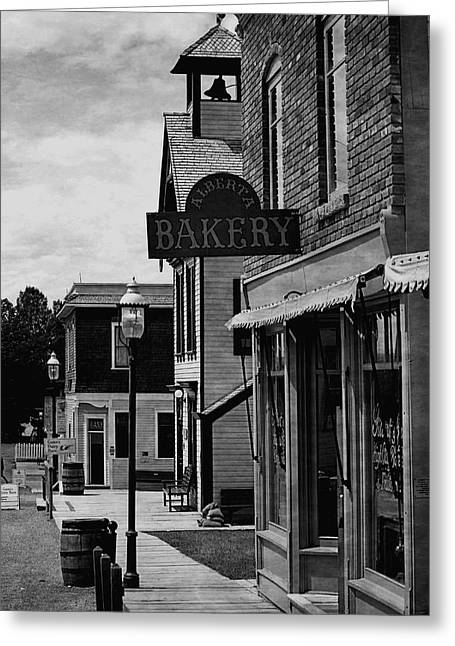 Old Town Digital Greeting Cards - Alberta Bakery Greeting Card by Maria Angelica Maira