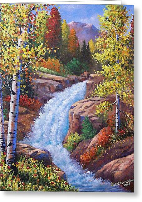 Alberta Water Falls Greeting Cards - Alberta Falls Greeting Card by David G Paul