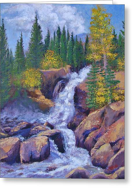 Alberta Falls Greeting Card by Margaret Bobb