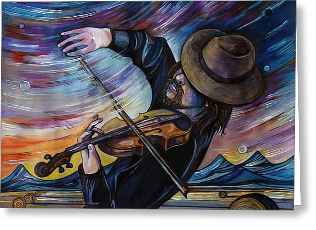 Alberta Fiddle Greeting Card by Anna  Duyunova