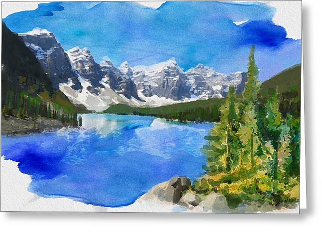Alberta Landscape Greeting Cards - Alberta Landscape 13 Greeting Card by Mahnoor Shah