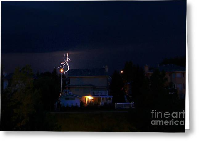 Dance Photo Greeting Cards - Alberta Lightning VIII Greeting Card by Al Bourassa