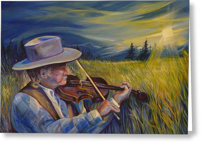 Alberta Foothills Landscape Greeting Cards - Alberta Lullaby Greeting Card by Anna  Duyunova