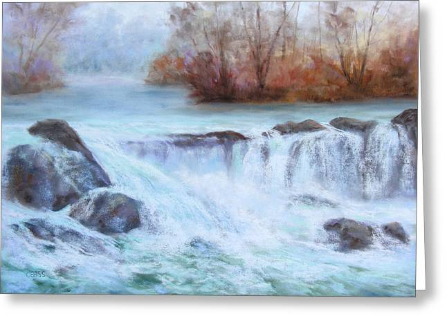 White River Pastels Greeting Cards - Albion Stream Greeting Card by Christine Bass