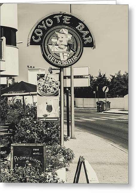 Albufeira Street Series - Coyote Bar I Greeting Card by Marco Oliveira