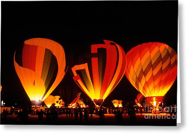 Albuquerque Greeting Cards - Albuquerque Balloon Festival Greeting Card by Mark Newman
