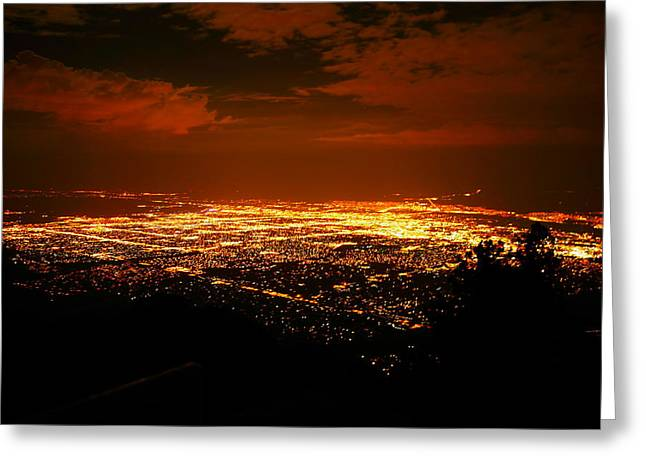 Sandias Greeting Cards - Albuquerque New Mexico  Greeting Card by Jeff  Swan