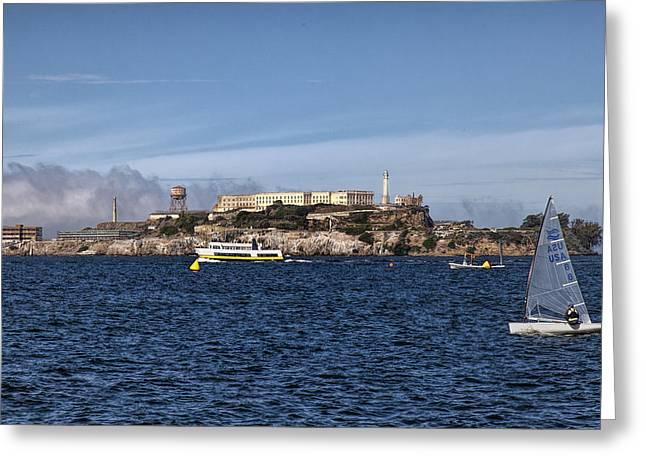 Alcatraz Greeting Cards - Alcatraz 3 Greeting Card by Diana Powell