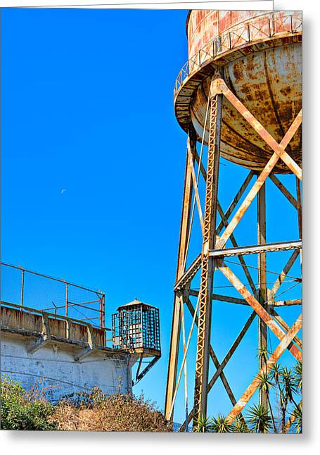 Alcatraz Greeting Cards - Alcatraz Guard Tower Greeting Card by James O Thompson