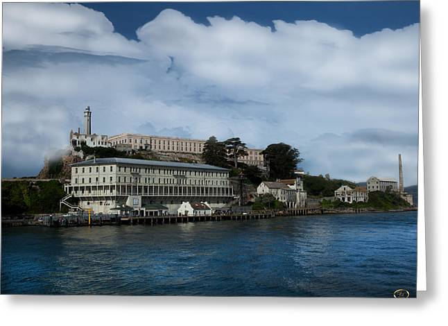 Alcatraz Lighthouse Greeting Cards - Alcatraz Island Greeting Card by Dale Simmons