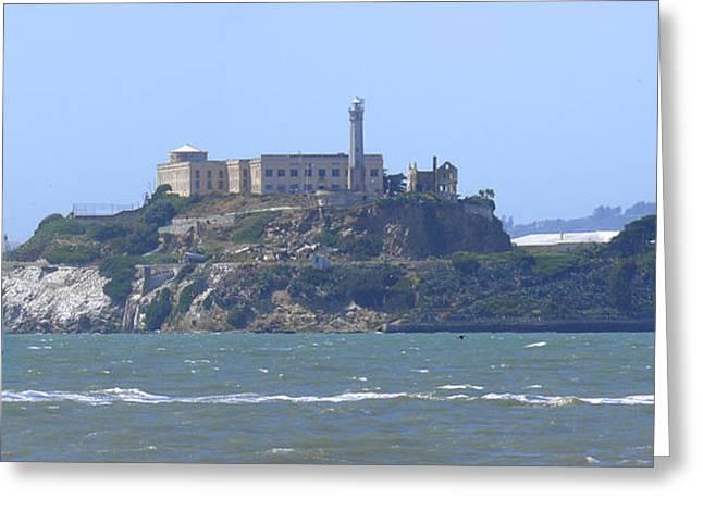 San Francisco Landmarks Greeting Cards - Alcatraz Island Greeting Card by Mike McGlothlen