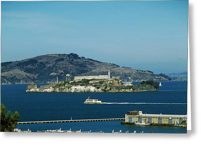 Alcatraz Greeting Cards - Alcatraz Island Greeting Card by Mountain Dreams