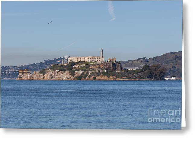 Alcatraz Greeting Cards - Alcatraz Island San Francisco California 5DIMG2521 Greeting Card by Wingsdomain Art and Photography