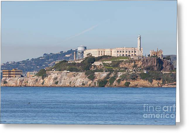 Alcatraz Greeting Cards - Alcatraz Island San Francisco California 5DIMG2523 Greeting Card by Wingsdomain Art and Photography