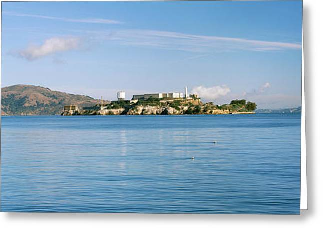 San Francisco Bay Greeting Cards - Alcatraz Island, San Francisco Greeting Card by Panoramic Images