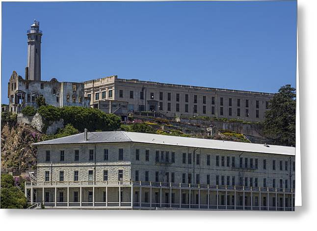 San Fransico Greeting Cards - Alcatraz Prison Greeting Card by John McGraw