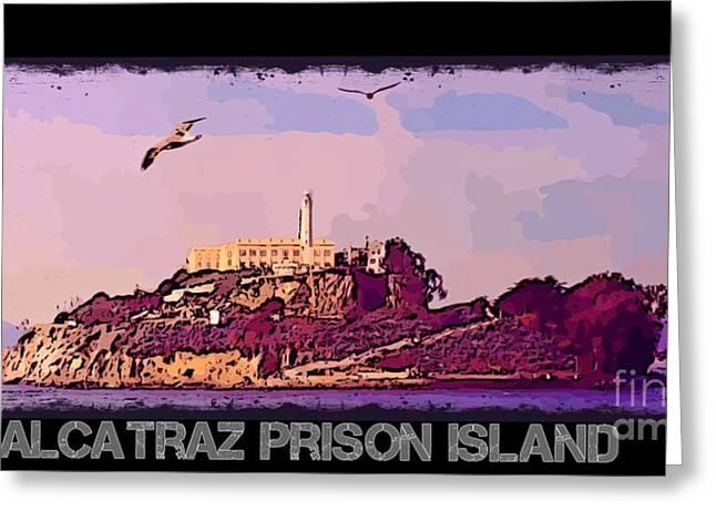 Alcatraz Greeting Cards - Alcatraz Prison Poster Greeting Card by John Malone