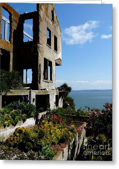 Alcatraz Greeting Cards - Alcatraz Ruin Greeting Card by Avis  Noelle