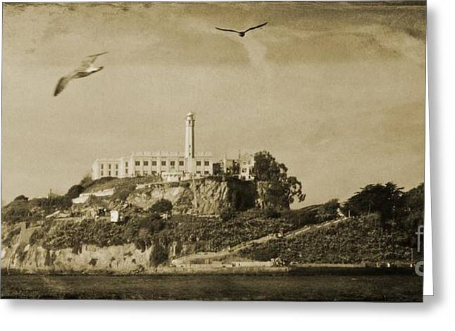 Seacape Greeting Cards - Alcatraz San Francisco Greeting Card by John Malone