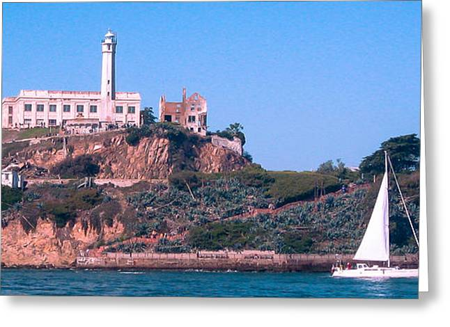 Sausalito Greeting Cards - Alcatraz - Wish You Were Here Greeting Card by J H Clery
