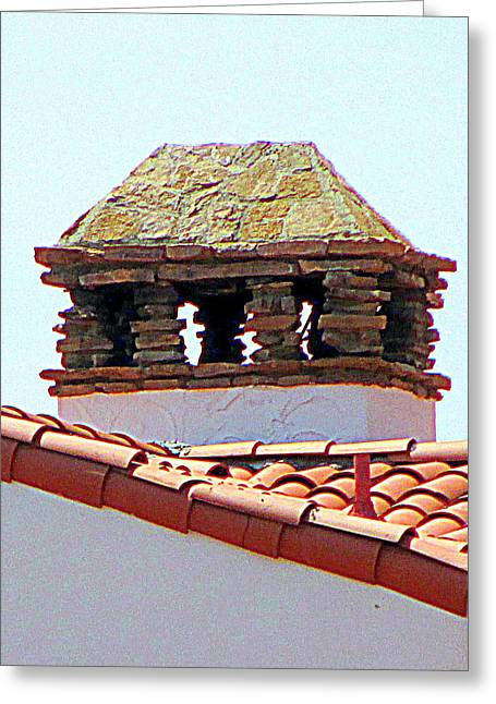 Mediterranean Style Greeting Cards - Alcazar Chimney Greeting Card by Randall Weidner