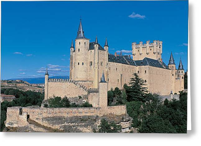Historic Architecture Greeting Cards - Alcazar Segovia Spain Greeting Card by Panoramic Images