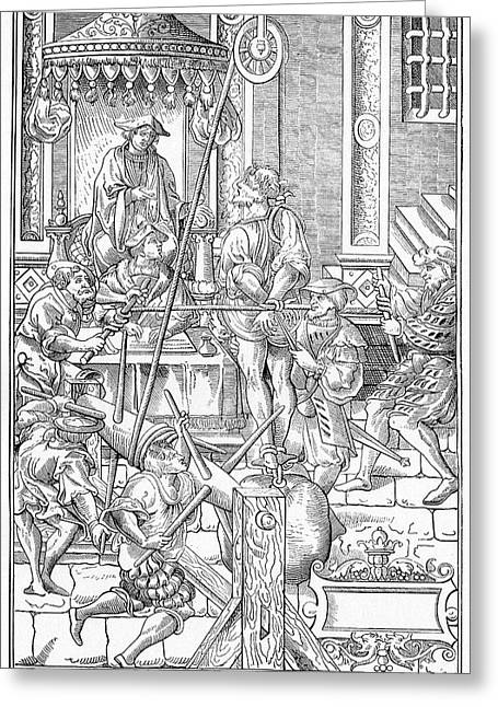 Alchemist Being Tortured Greeting Card by Cci Archives