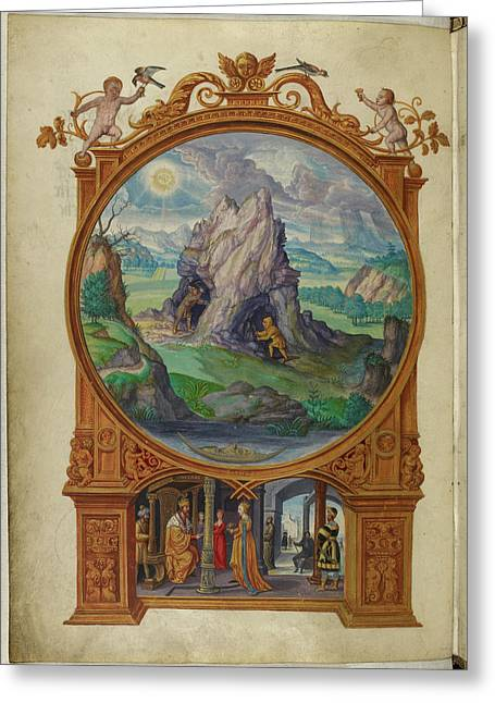 Alchemists Searching For Gold Greeting Card by British Library