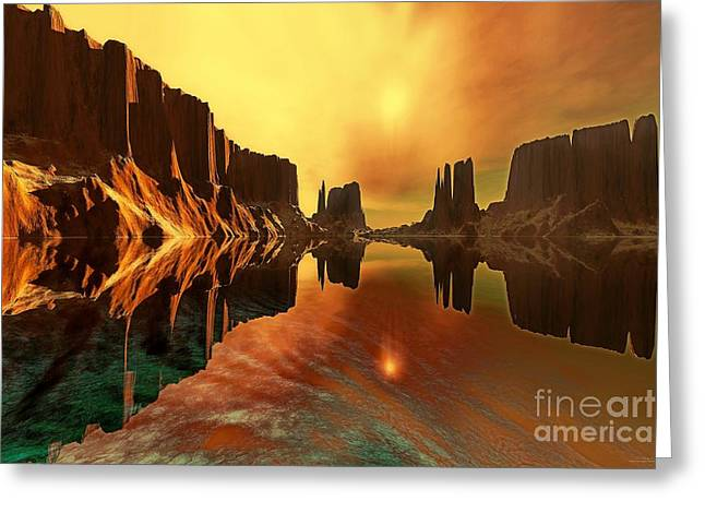 Desert Lake Digital Art Greeting Cards - Alchemy Greeting Card by Corey Ford