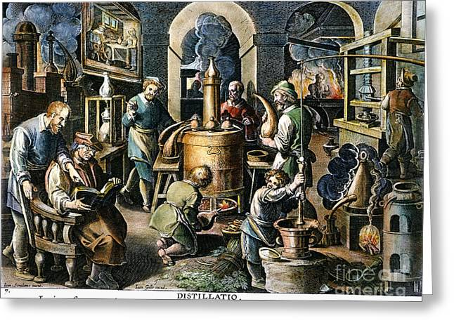 Joannes Greeting Cards - Alchemy: Laboratory Greeting Card by Granger