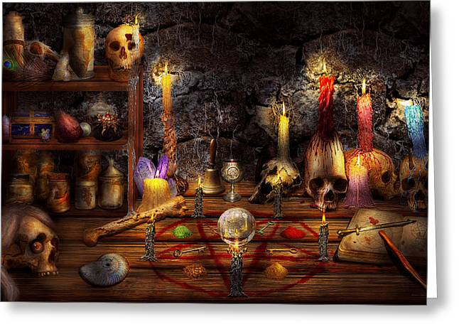 Name Gifts Greeting Cards - Alchemy - That old black magic Greeting Card by Mike Savad