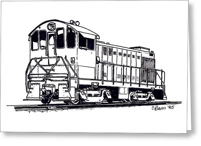Alco Locomotives Greeting Cards - Alco S4 Greeting Card by Craig Bass