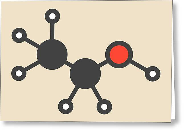 Alcohol Molecule Greeting Card by Molekuul
