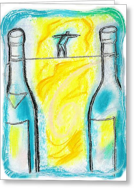 Exhilarate Greeting Cards - Alcoholism Greeting Card by Leon Zernitsky