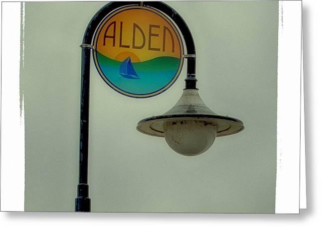 Streetlight Digital Art Greeting Cards - Alden Greeting Card by Gary O