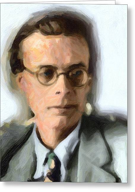 Aldous Huxley Greeting Cards - Aldous Huxley Greeting Card by Celestial Images