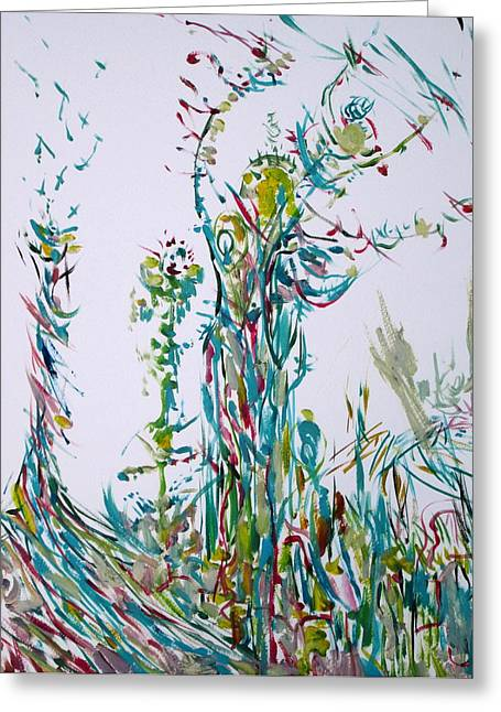 Tree Roots Paintings Greeting Cards - Alea Iacta Est.good Luck Greeting Card by Fabrizio Cassetta