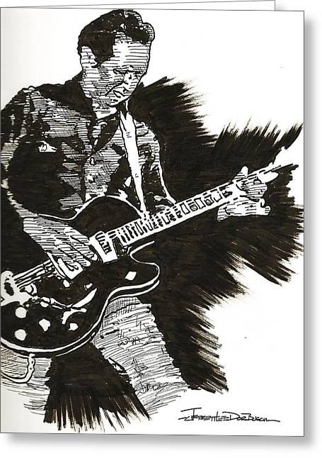 Alejandro Greeting Cards - Alejandro Escovedo Greeting Card by Jerrett Dornbusch