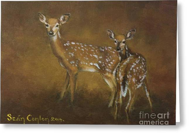 Alertness Paintings Greeting Cards - Alertness Greeting Card by Sean Conlon