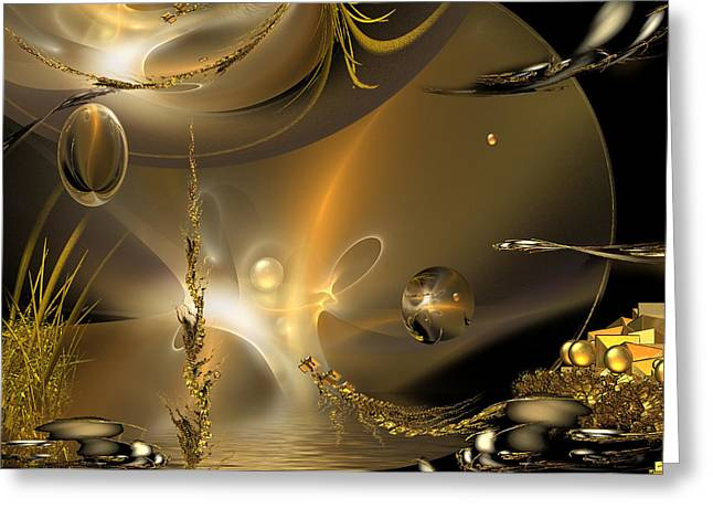Mix Medium Digital Greeting Cards - Tales Of Reflections Of Tales Greeting Card by Phil Sadler