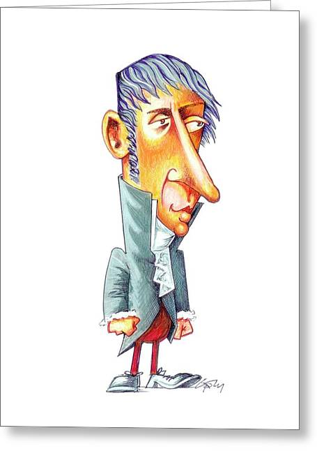 Alessandro Volta Greeting Card by Gary Brown