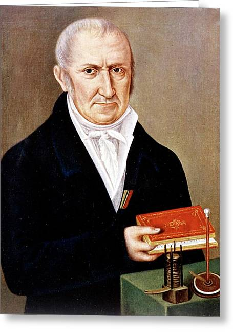 Alessandro Volta Greeting Card by Universal History Archive/uig
