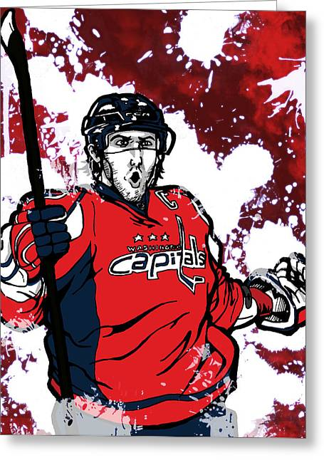 Alexander Ovechkin Greeting Card by Nate Gandt