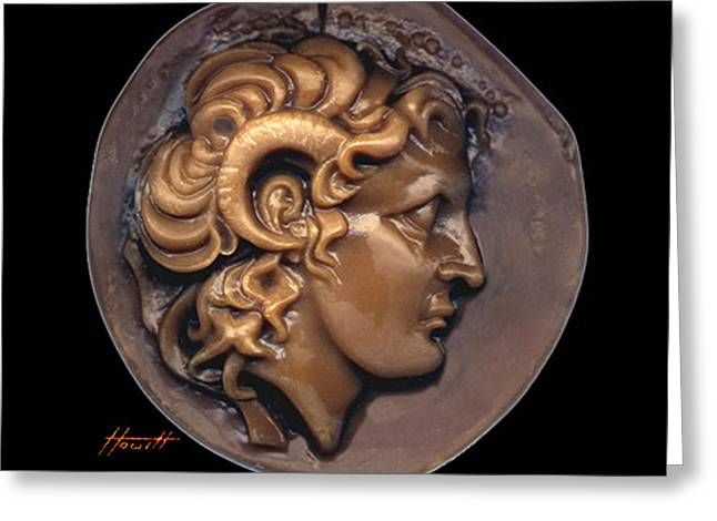 Engraving Sculptures Greeting Cards - Alexander Greeting Card by Patricia Howitt