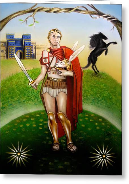 Babylon Mixed Media Greeting Cards - Alexander the Great Greeting Card by Ilias Patrinos