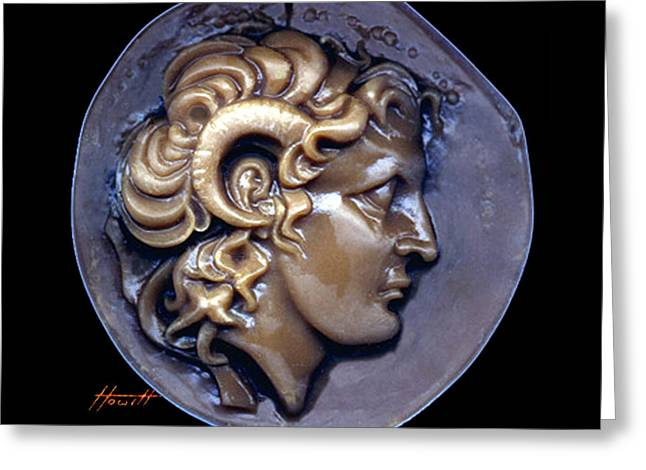 Engraving Sculptures Greeting Cards - Alexander the Great Greeting Card by Patricia Howitt
