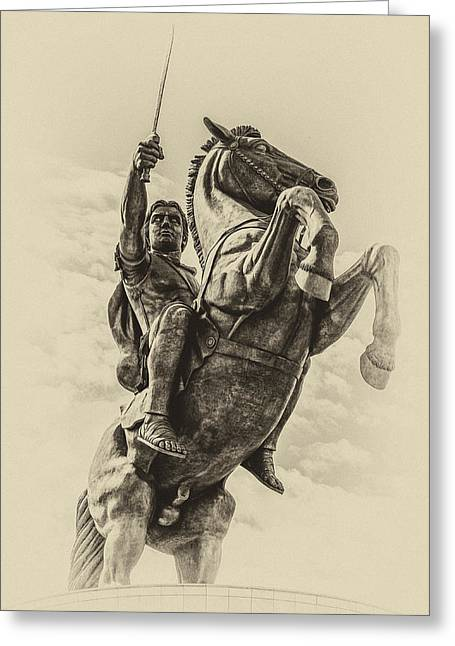 Fontain Greeting Cards - Alexander the Great Greeting Card by Yevgeni Kacnelson
